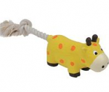 Coastal Pet Products -Lil Pals Latex & Rope Cow - Yellow - 8 Inch