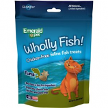 Emerald Pet Products  - Wholly Fish Chicken - Free Cat Treats - Tuna - 3 Ounce