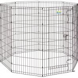 Midwest Container -Contour Exercise Pen With Door - Black - 48 In
