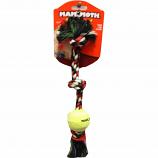 Mammoth Pet Products - Knot Tug W/Mini Tennis Ball - Multi - Mini/11 Inch