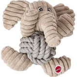 Ethical Dog - Plush Knot For Nothin' Dog Toy - Assorted - 6.5 In