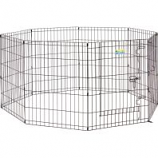 Midwest Container -Contour Exercise Pen With Door - Black - 30In