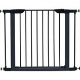 Midwest Homes For Pets - Steel/Wood Pet Gate - Graphite/Wood - 29 H X 29-38 W