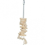 Prevue Pet Products - Prevue Chips 'N' Chomps Bird Toy - Natural Wood - Medium