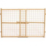 Midwest Homes For Pets - Wood/Wire Mesh Pet Gate - Natural - 24 H X 29-41.5