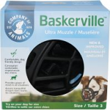 The Company Of Animals -Baskerville Ultra Moldable Muzzle - Black - Size 3