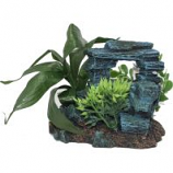 Blue Ribbon Pet Products -Exotic Environments Rock Arch with Plants - Small
