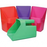 Tolco Corporation -Plastic Feed Scoop - Assorted Neon - 3 Quart