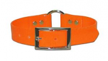 """Leather Brothers - 1"""" SunGlo Ring-in-Center Collar - Orange - 19"""" Length"""