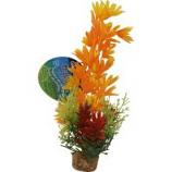 Blue Ribbon Pet Products -Color Burst Florals Large Brush Plants - Orange - Large
