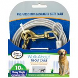 Four Paws - Dog Tie Out Cable - Heavy Weight - Silver - 10 Feet