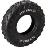 Ethical Dog - Pup Treads Rubber Tire - Black  - 8 Inch