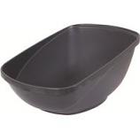 Petmate - Petmate Hi-Back Open Litter Pan - Steel - Large