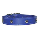 "Leather Brothers - 1"" Regular Leather Paw Ornament - Blue - 24"" Length"