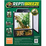 Zoo Med - Reptibreeze Open Air Aluminum Screen Cage - Black Small