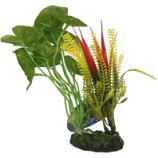 Blue Ribbon Pet Products -Tropical Gardens Alocasia Variegated Cluster - Green - Small
