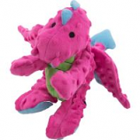 Quaker Pet Group -Godog Dragons Durable Plush Squeaker Dog Toy - Pink - Large