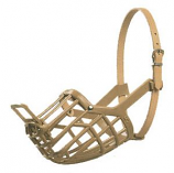 Leather Brothers - Italian Basket Muzzle - Size 7 - Tan