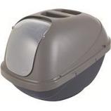 Petmate - Petmate Basic Hooded Litter Pan - Blue / Silver - Large
