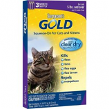 Sergeants Pet Products - Gold Squeeze-On For Cats - 3 Pack