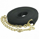 Imported Horse Supply - Lunge Line With Chain - Black - 20 Feet