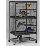 Midwest Homes For Pets - Critter Nation Double Unit - Gray - Double