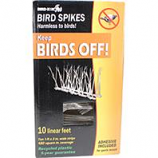 Bird-X - Plastic Bird Spikes - Clear - 10 Linear Feet-Clear