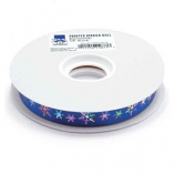 Top Performance - Printed Ribbon Roll 50yards Blue/Snow flake