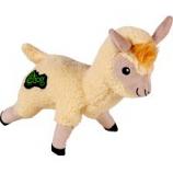 Quaker Pet Group -Godog Fleece Llama Durable Plush Dog Toy - Ivory - Large