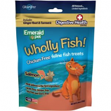 Emerald Pet Products - Wholly Fish Chicken-Free Cat Treats - Salmon Dh - 3 Ounce