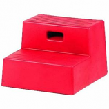 Horsemens Pride - Mounting Step 2 Step - Red - 15x18 3/4 Inch