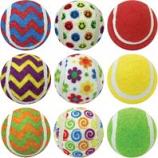 Multipet International - Ruff Enuff Tennis Balls - Asst - 2.5 In/3 Pk