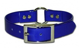 """Leather Brothers - 1"""" SunGlo Ring-in-Center Collar - Blue - 27"""" Length"""