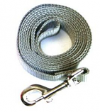 """Leather Brothers - 1"""" x 4' One-Ply Nylon Lead - Nickle Bolt - Silver Moon"""