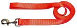 """Leather Brothers - 1"""" x 6' One-Ply Nylon Lead - Nickle Bolt - Neon Orange"""