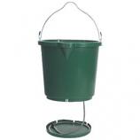 Farm Innovators - Farm - Oversized Heated Flat - Back Bucket - Green - 5 Gallon