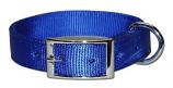 "Leather Brothers - 1"" Regular Bravo Nylon Collar - Blue - 30"" Length"