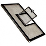 Zilla - Fresh Air Screen Cover With Hinged Door - Black - 30 x 12 Inch