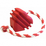 SodaPup - MKB Heart on a String Ultra-Durable Reward Ball - Large - Red